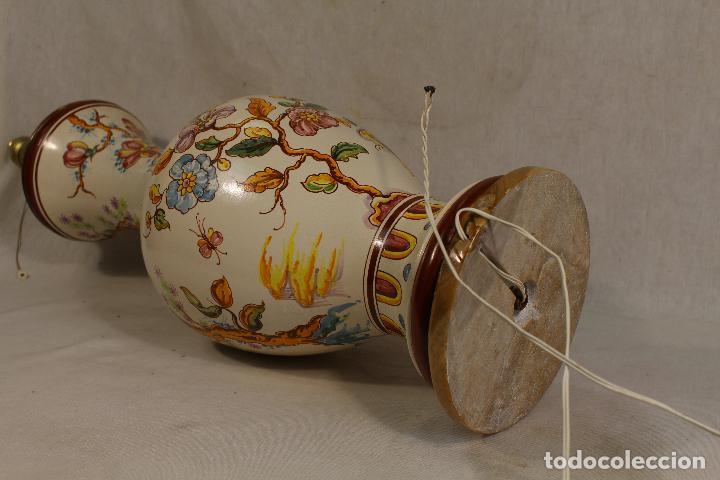 Vintage: lampara china de sobremesa en ceramica con pie de marmol - Foto 6 - 118758807