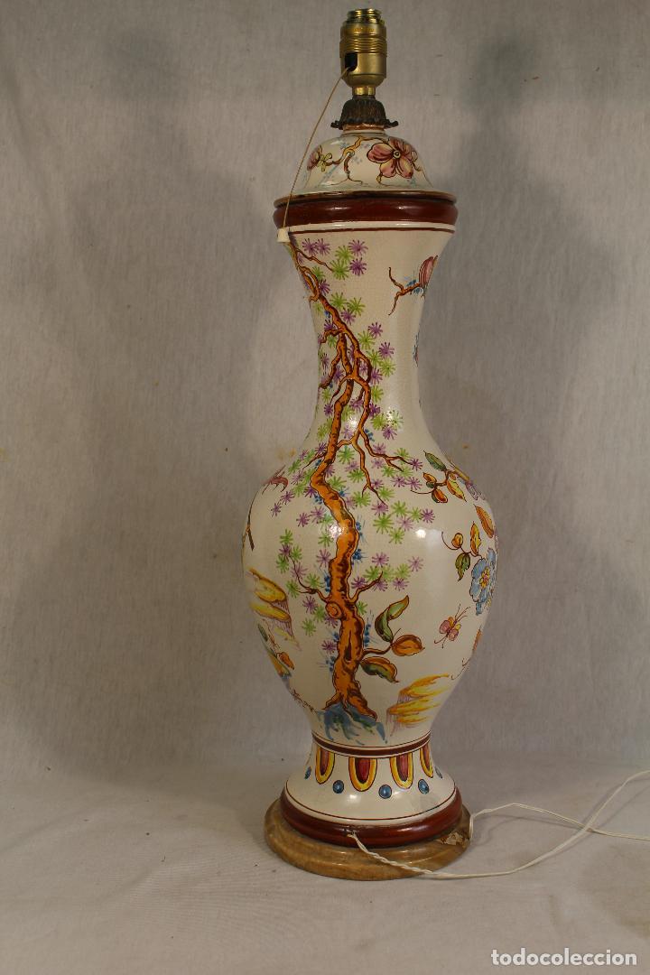 Vintage: lampara china de sobremesa en ceramica con pie de marmol - Foto 7 - 118758807