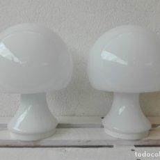 Vintage: LAMPARA MESA SETA TULIP VINTAGE OPALINA AÑOS 70 (2 UNIDADES). Lote 118753091