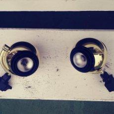 Vintage: LOTE 2 FOCOS APLIQUE CARRIL FASE. SPACE AGE. BALL. DORADOS. IXO. METALARTE. Lote 118921060