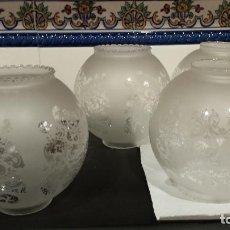 Vintage: CUATRO TULIPAS DE CRISTAL.. Lote 119357087