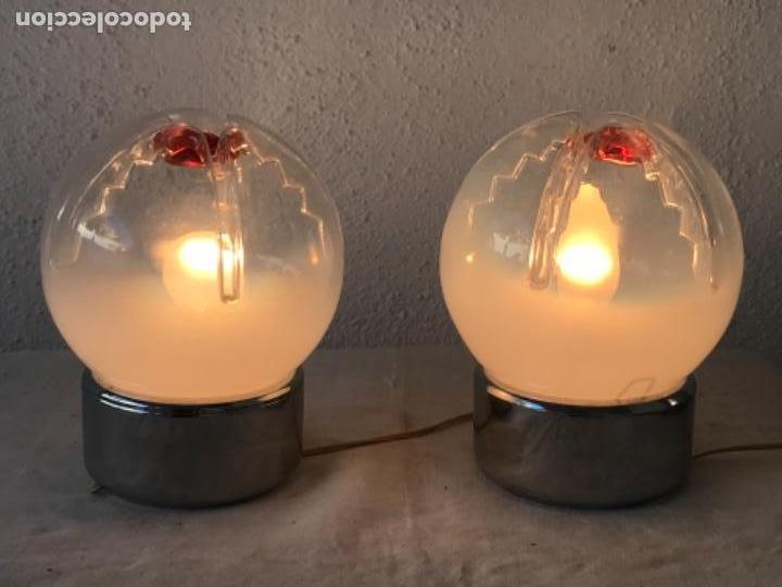 Vintage: VINTAGE LAMPARAS DE MESA SPACE AGE, MURANO , 1970'S. - Foto 2 - 119410463