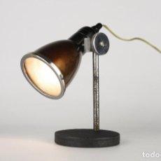 Vintage: LAMPARA SOBREMESA ANTIGUA VINTAGE ORIENTABLE NEGRO INDUSTRIAL FRANCIA 50'S. Lote 119506259