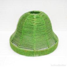 Vintage: PANTALLA TULIPA DE CUERDA PARA LAMPARA,EN COLOR VERDE.. Lote 119808071