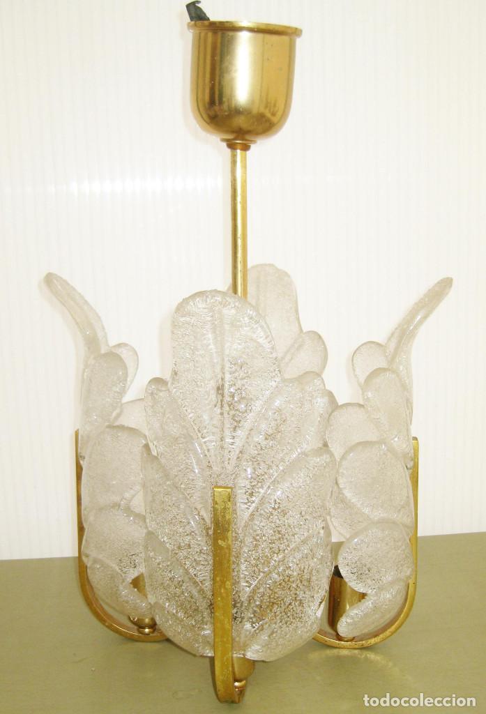 Vintage: MUY RARA LAMPARA PEQUEÑA VINTAGE CRISTAL ORREFORS Y LATON ESTILO FAGERLUND - Foto 2 - 120460227