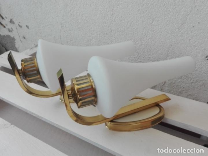 APLIQUE LAMPARA PARED MID CENTURY VINTAGE. AÑOS 50. FRANCIA (2 UNIDADES) (Vintage - Lámparas, Apliques, Candelabros y Faroles)