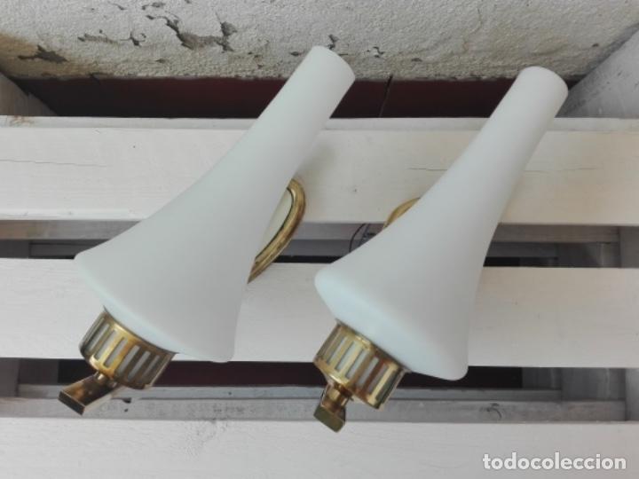 Vintage: APLIQUE LAMPARA PARED MID CENTURY VINTAGE. AÑOS 50. FRANCIA (2 UNIDADES) - Foto 4 - 120706291