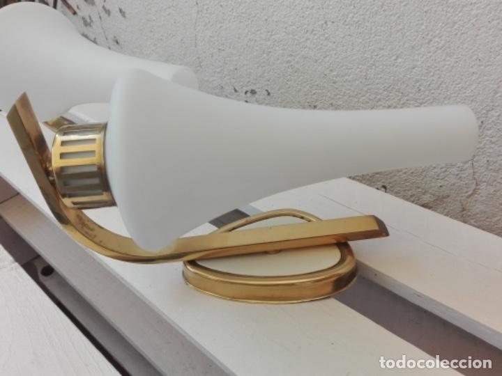 Vintage: APLIQUE LAMPARA PARED MID CENTURY VINTAGE. AÑOS 50. FRANCIA (2 UNIDADES) - Foto 7 - 120706291