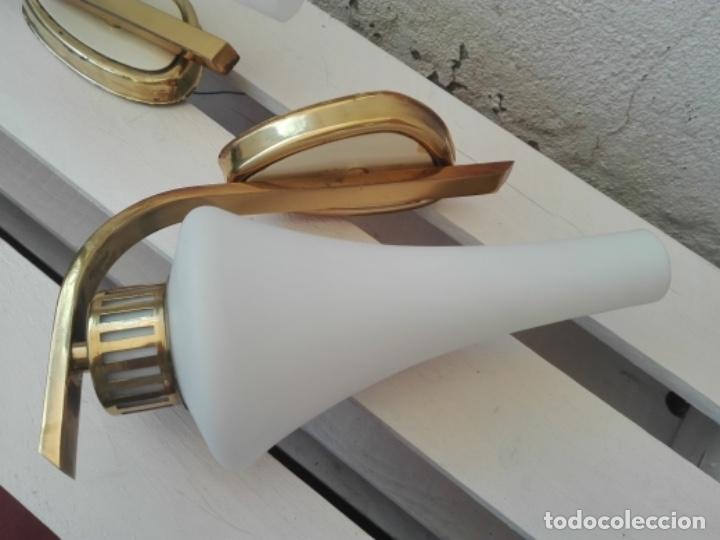 Vintage: APLIQUE LAMPARA PARED MID CENTURY VINTAGE. AÑOS 50. FRANCIA (2 UNIDADES) - Foto 8 - 120706291