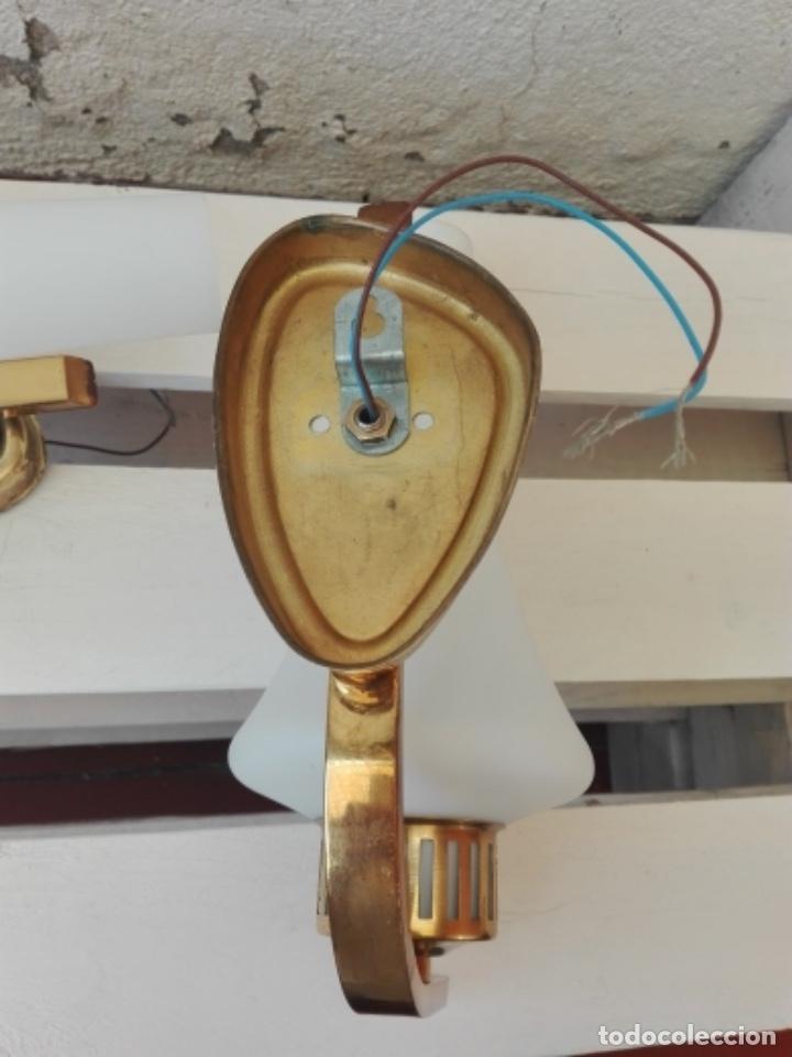 Vintage: APLIQUE LAMPARA PARED MID CENTURY VINTAGE. AÑOS 50. FRANCIA (2 UNIDADES) - Foto 9 - 120706291