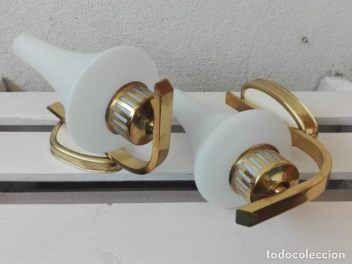 Vintage: APLIQUE LAMPARA PARED MID CENTURY VINTAGE. AÑOS 50. FRANCIA (2 UNIDADES) - Foto 2 - 120706291