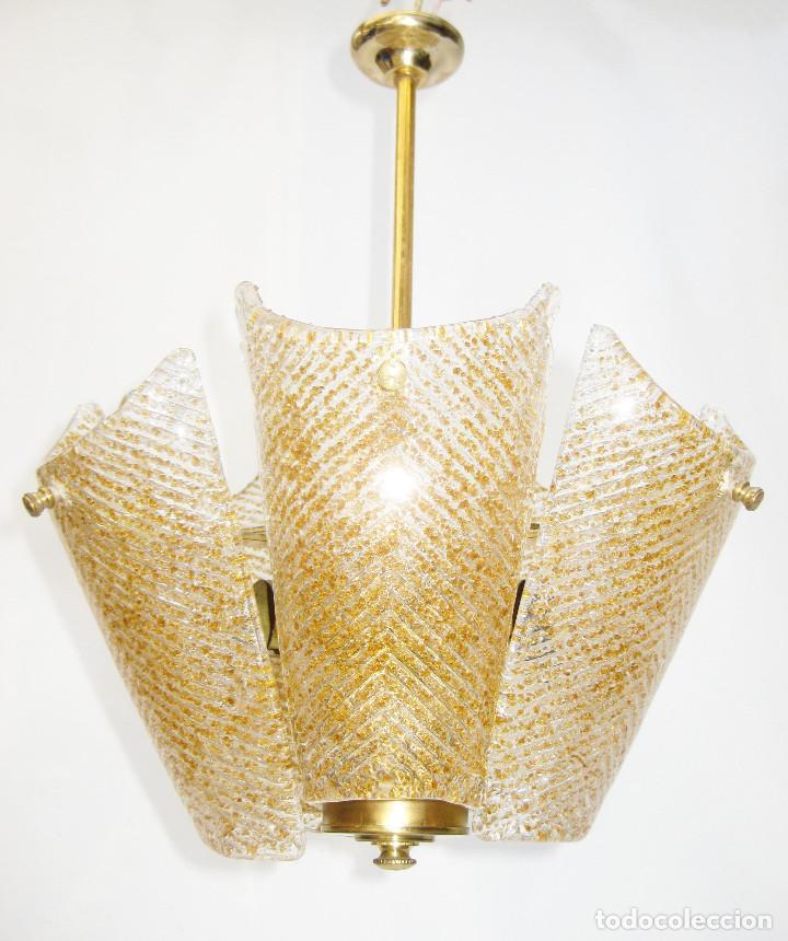 PRECIOSA LAMPARA SALITA O HABITACION VINTAGE CRISTAL ORREFORS TIPO FAGERLUND (Vintage - Lámparas, Apliques, Candelabros y Faroles)