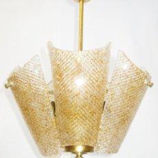 Vintage: PRECIOSA LAMPARA SALITA O HABITACION VINTAGE CRISTAL ORREFORS TIPO FAGERLUND . Lote 121679531