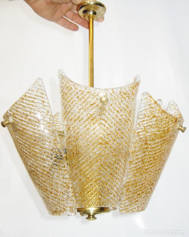 Vintage: PRECIOSA LAMPARA SALITA O HABITACION VINTAGE CRISTAL ORREFORS TIPO FAGERLUND - Foto 2 - 121679531