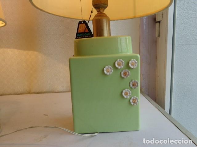 Vintage: PAREJA DE 2 ANTIGUAS (AÑOS 60 RETRO VINTAGE), Y BONITS LAMPARAS DE BUENA PORCELANA FUNCIONANDO - Foto 2 - 121840651