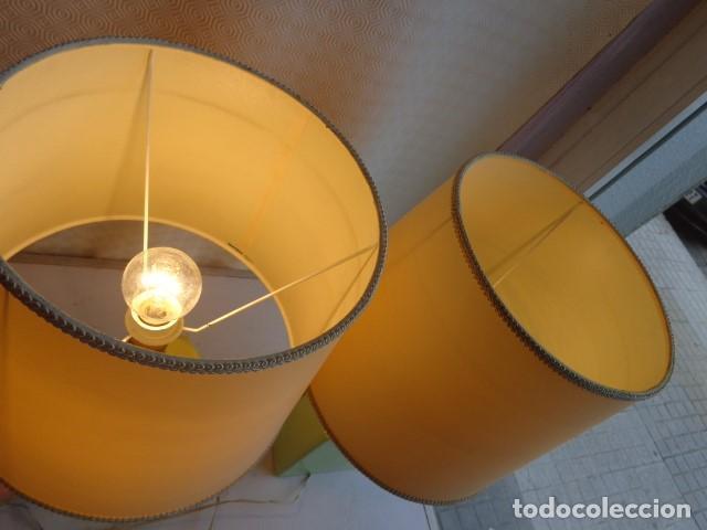 Vintage: PAREJA DE 2 ANTIGUAS (AÑOS 60 RETRO VINTAGE), Y BONITS LAMPARAS DE BUENA PORCELANA FUNCIONANDO - Foto 4 - 121840651