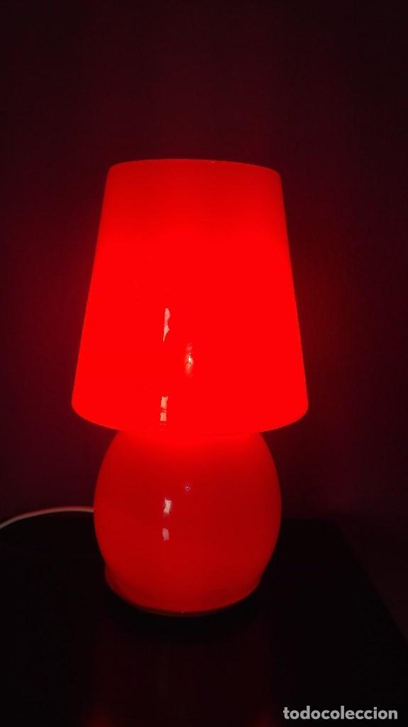 LAMPARA SOBREMESA CRISTAL MURANO (Vintage - Lámparas, Apliques, Candelabros y Faroles)
