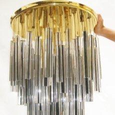 Vintage: ESPECTACULAR LAMPARA CASCADA ANTIGUA VINTAGE ORIGINAL SIN USO VENINI VETRI MURANO. Lote 122225715