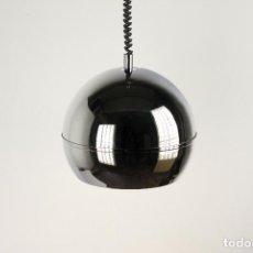 Vintage: LAMPARA TECHO ESTILUZ CROMADA SPACE AGE SUBE BAJA VINTAGE RETRO ESPAÑA 70'S. Lote 122344015
