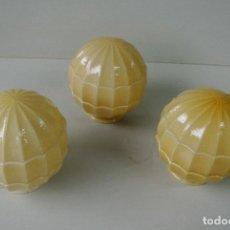 Vintage: LOTE DE TRES BLOBOS, TULIPAS PARA LAMPARA. ART DECO. Lote 122878299