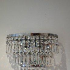 Vintage - Pareja de apliques vintage de lágrimas de cristal años 60 Strass Swarovski - 123027079