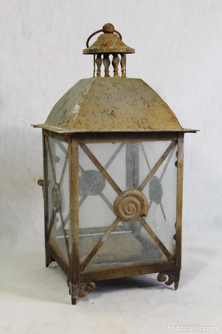 Vintage: farol en metal - Foto 2 - 123304835