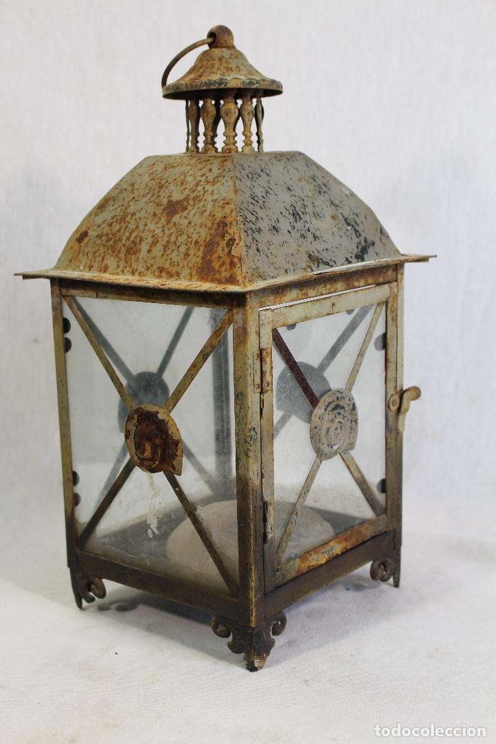 Vintage: farol en metal - Foto 3 - 123304835