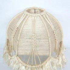 Vintage: BELLA PANTALLA DE LAMPARA EN MACRAME - VINTAGE ORIGINAL. Lote 123412591