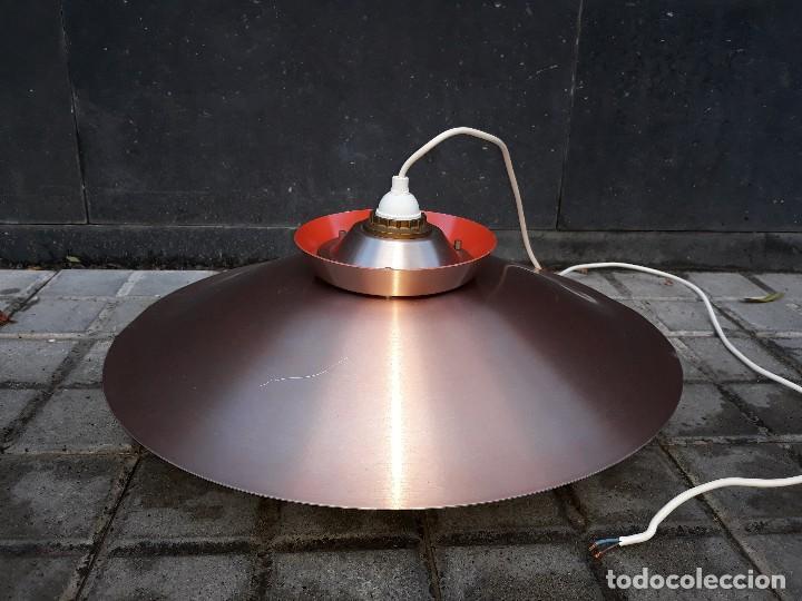 Vintage: Gran Lámpara vintage años 60 suspensión danesa estilo escandinavo Louis Poulsen Cobre 50cm - Foto 5 - 123514275