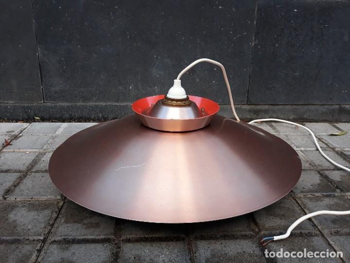 Vintage: Gran Lámpara vintage años 60 suspensión danesa estilo escandinavo Louis Poulsen Cobre 50cm - Foto 6 - 123514275