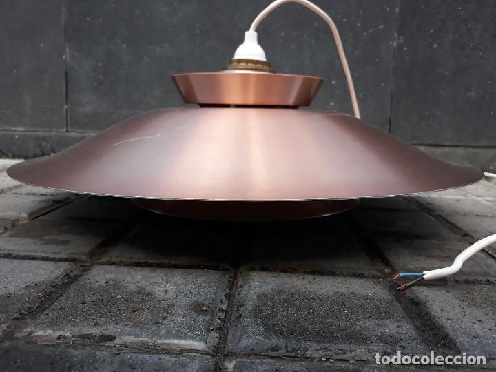 Vintage: Gran Lámpara vintage años 60 suspensión danesa estilo escandinavo Louis Poulsen Cobre 50cm - Foto 7 - 123514275