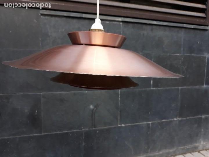 Vintage: Gran Lámpara vintage años 60 suspensión danesa estilo escandinavo Louis Poulsen Cobre 50cm - Foto 13 - 123514275