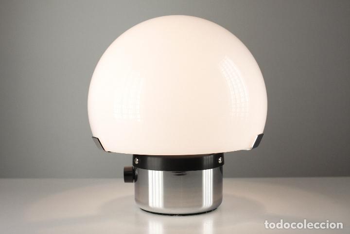 Vintage: lámpara Metalarte Gaetano Sciolari blanco metacrilato cromado vintage retro space age españa 70s - Foto 4 - 124419167