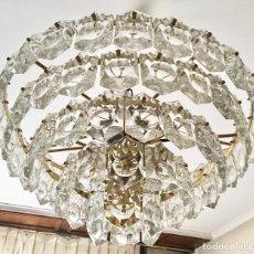 Vintage: LAMPARA TECHO CRISTALES XXL KINKELDEY AÑOS 70. Lote 124470659