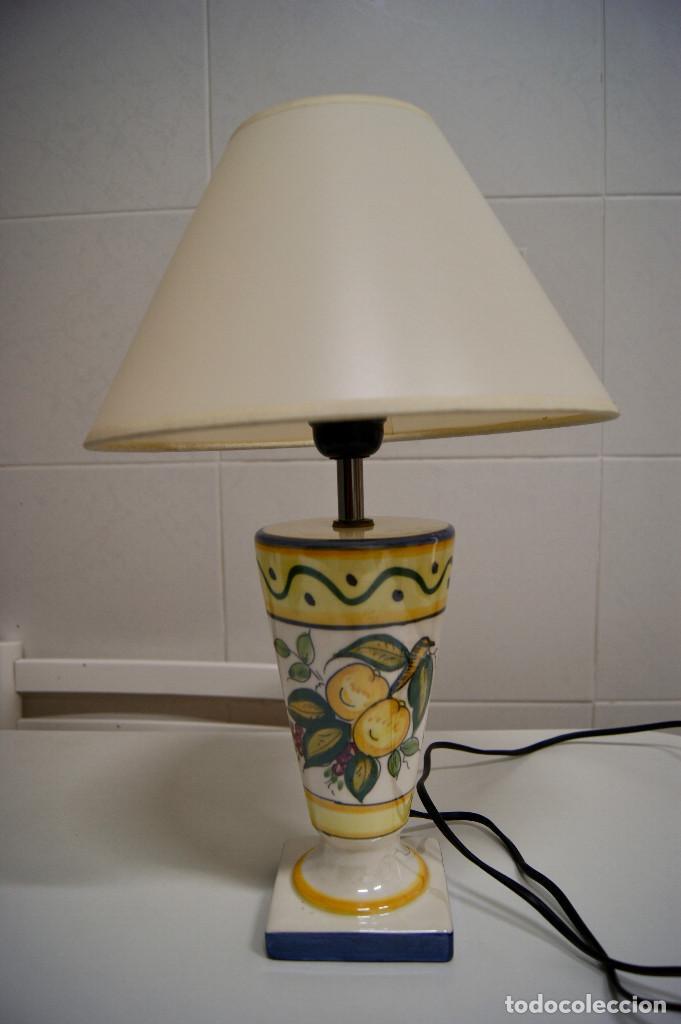 LAMPARA SOBREMESA DE CERAMICA TIPO PORCELANA (Vintage - Lámparas, Apliques, Candelabros y Faroles)