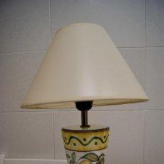 Vintage: LAMPARA SOBREMESA DE CERAMICA TIPO PORCELANA. Lote 124620287