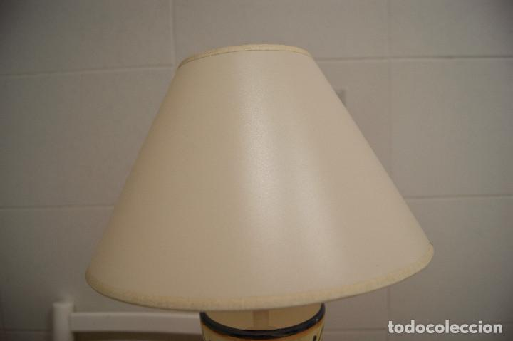 Vintage: lampara sobremesa de ceramica tipo porcelana - Foto 2 - 124620287