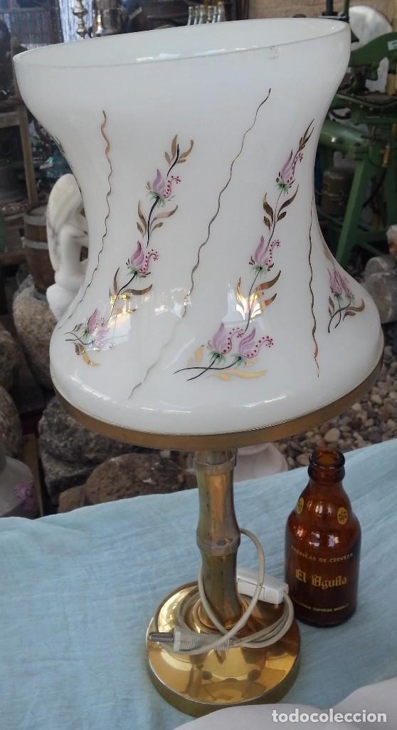 LAMPARA DE MESA VINTAGE. AÑOS 80. COMPLETA. FUNCIONANDO. (Vintage - Lámparas, Apliques, Candelabros y Faroles)