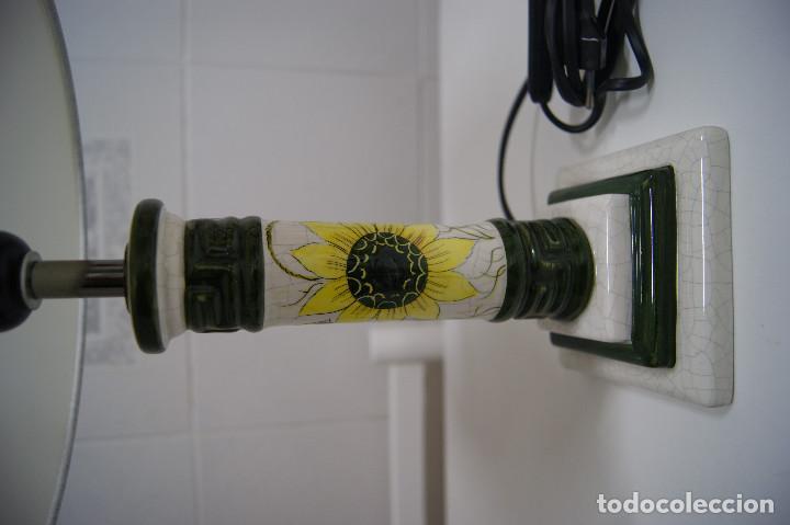 Vintage: Lámpara sobremesa de cerámica tipo porcelana - Foto 3 - 126951783