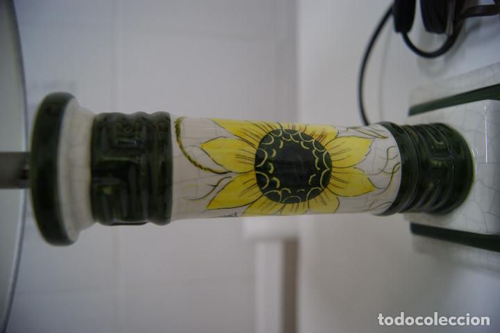 Vintage: Lámpara sobremesa de cerámica tipo porcelana - Foto 4 - 126951783