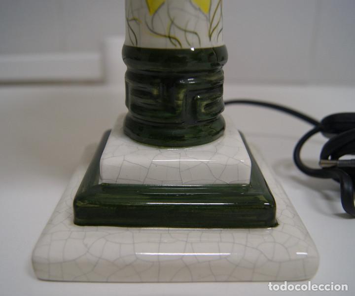 Vintage: Lámpara sobremesa de cerámica tipo porcelana - Foto 5 - 126951783