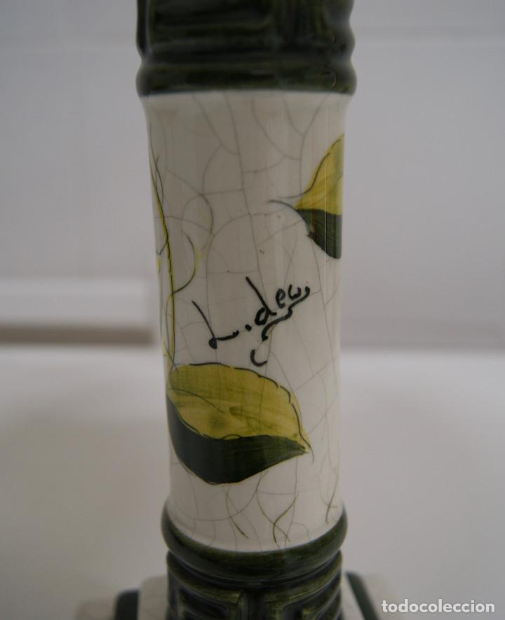 Vintage: Lámpara sobremesa de cerámica tipo porcelana - Foto 6 - 126951783