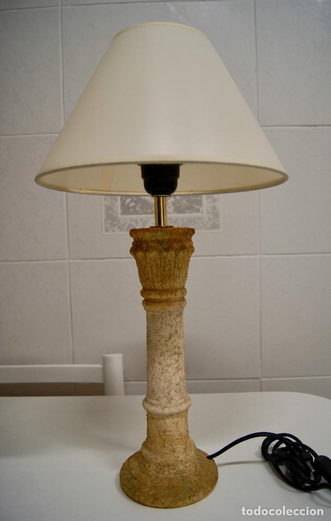 sobremesa rústica en color terracota Lámpara de cerámica 29EIWDH