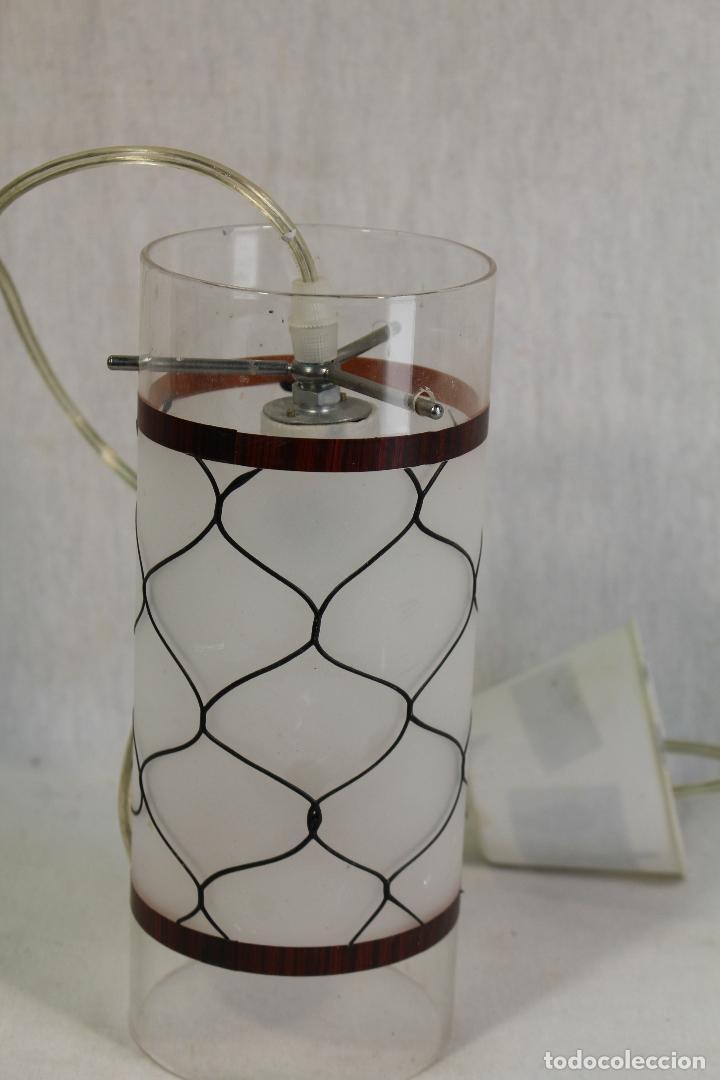 Vintage: lampara de techo tulipa de cristal - Foto 2 - 127744375
