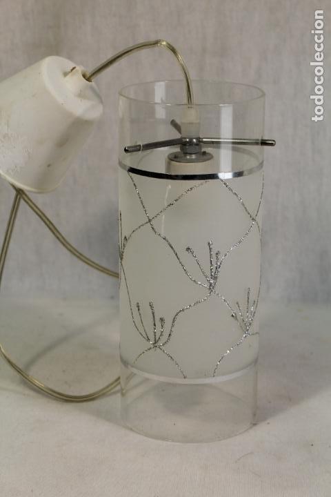 LAMPARA DE TECHO TULIPA DE CRISTAL (Vintage - Lámparas, Apliques, Candelabros y Faroles)