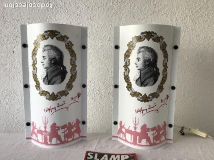 JUEGO DE LAMPARAS SLAMP OPERA. SAMUEL PARKER. ITALIA AÑOS 80 VINTAGE. (Vintage - Lámparas, Apliques, Candelabros y Faroles)