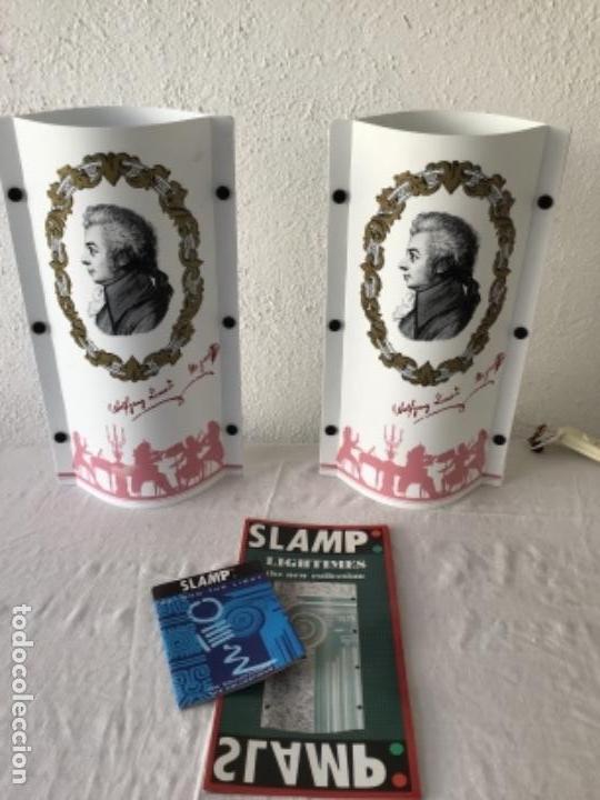 Vintage: JUEGO DE LAMPARAS SLAMP OPERA. SAMUEL PARKER. ITALIA AÑOS 80 VINTAGE. - Foto 3 - 127997095