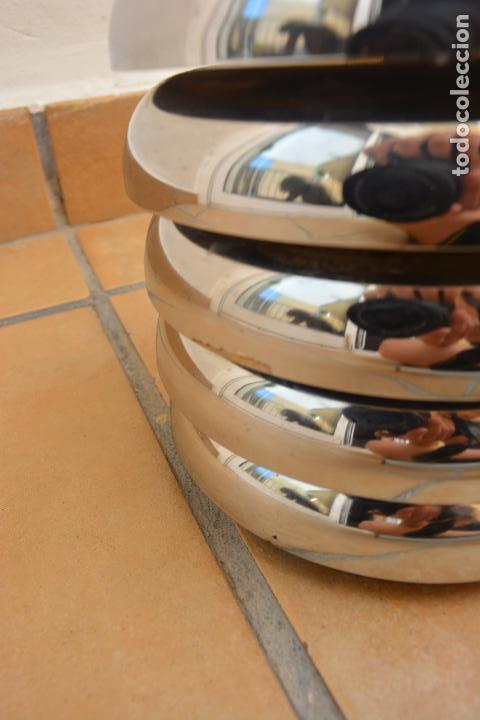 Vintage: Lampara Vintage Sobremesa Space Age Metal Cromado - Globo Opalina 70s - Foto 7 - 128373187