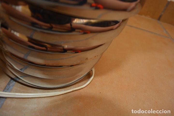 Vintage: Lampara Vintage Sobremesa Space Age Metal Cromado - Globo Opalina 70s - Foto 8 - 128373187