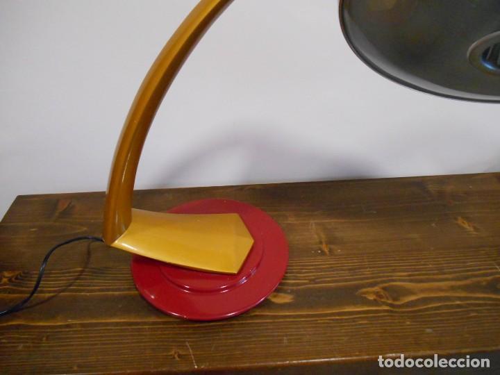 Vintage: PRECIOSA LAMPARA ANTIGUA FASE BOOMERANG 2000 EN OCRE Y BURDEOS CON DIFUSOR COMPLETA VINTAGE DISEÑO - Foto 5 - 128461079